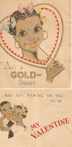 racist valentine's day cards