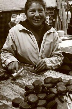 Bolivia, South America, April 2012. #bolivia #lapaz #southamerica #workshop #handcraft #quality #smile #leatherbag #handmadebag #unique