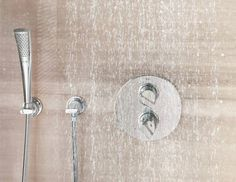 With GROHE Ondus Thermostats : Create your personal hydrotherapy shower. Bathroom Taps, Bathrooms, Thermostats, Modern Baths, Bathroom Inspiration, Showers, Door Handles, Board, House
