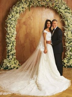 Vogue Wedding - our favorite couples: Amal Alamuddin & George Clooney. Click on the image to see more.