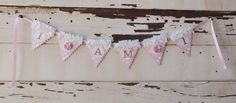 Pink and Gold High Chair Banner with by CardsandMoorebyTerri