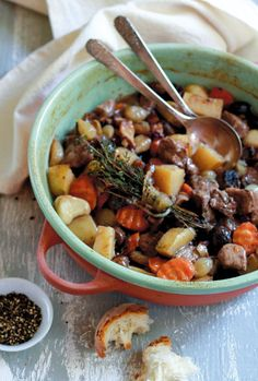 Cooking in clay does something magical to many foods—especially this wine-infused stew.