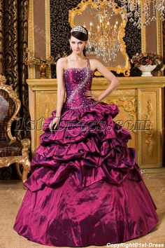 b35353250ac 1st-dress.com Offers High Quality Fuchsia Mystique One Shoulder 2012 Quinceanera  Dresses