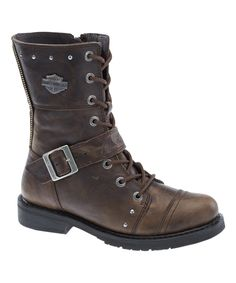 Take a look at this Olive Monetta Leather Boot - Women today!