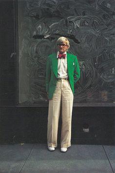 "nelsoncarpenter: "" david hockney, new york. 1976. """