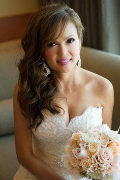 Schöne #Frisur für die #Braut am Tag der #Hochzeit