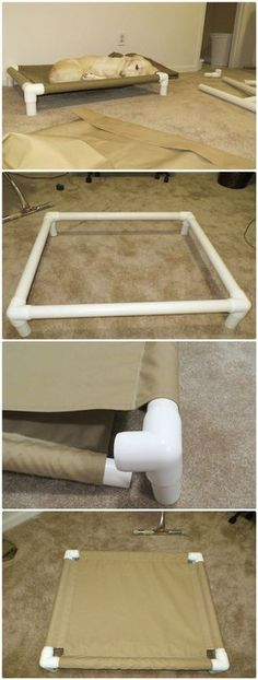 DIY PVC Pipe Dog Cot - 48 DIY Projects out of PVC Pipe You Should Make