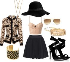 """""""Gold and black"""" by vtinarizzo on Polyvore"""