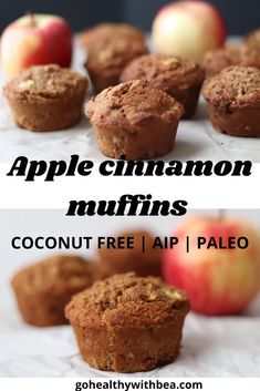 Try these easy and healthy vegan and gluten free apple cinnamon muffins. They are the best! Use tigernut flour for the AIP version or almond flour for paleo. #muffins #apple #AIP #paleo #vegan #glutenfree Apple Cinnamon Muffins, Cinnamon Apples, Good Healthy Snacks, Yummy Snacks, Dairy Free Recipes, Paleo Recipes, Almond Flour Recipes, Paleo Treats, Low Carb Bread