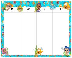 KWHL Table Bubble Guppies 30x24 Bubble Guppies, Guppy, Bubbles, Table, Room, Cards, Bedroom, Tables, Rooms