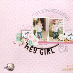 "scrapbook layout ""hey girl"" di kushi per Scrappiamo Insieme | www.kkushi.com    #scrapbooking #scrapbooklayout #kkushi"