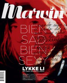 Marvin 163: BIEN SAD BIEN SEXY | Lykke Li #MinimalDesign #Minimal #RevistaMarvin #Marvin #ArtDirection #Magazine #EditorialDesign #Editorial #GraphicDesign #BienSadBienSexy #SoSadSoSexy #LykkeLi #magazinecover #coverjunkie