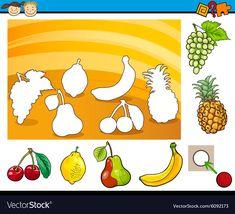 Cartoon educational task for children vector Farm Animals Preschool, Body Preschool, Preschool Worksheets, Kindergarten Activities, Book Activities, Preschool Activities, Drawing Lessons For Kids, Art Drawings For Kids, Colors For Toddlers