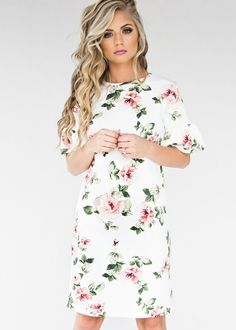 floral josie flutter dress, jessakae, fashion, style, womens fashion, hair, makeup, dress, ootd, hoodie, fall fashion