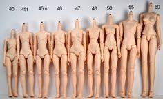 PARABO 40cm - 47cm / Obitsu 50cm - 60cm body chart
