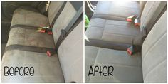 Best Homemade Car Upholstery Cleaner Cleaning car upholstery can be an easy or hard task it all depends on using the right cleaners for the job. Car Upholstery Cleaner, Cleaning Car Upholstery, Car Cleaning, Diy Cleaning Products, Cleaning Solutions, Spring Cleaning, Cleaning Hacks, Deep Cleaning, Cleaning Routines