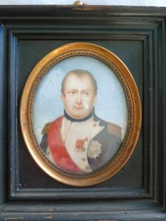 """Copy by George Catlin of the miniature portrait that Joseph Bonaparte said was """"the best likeness"""" of Napoleon. Photo courtesy of The Andalusia Foundation."""