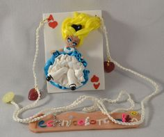 Alice on Ace of Hearts (Alice in Wonderland) Necklace