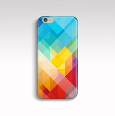 iPhone 6 Case Colorful iPhone 5s Case Geometric iPhone by FabStory