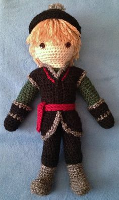 Ravelry: Kristoff Crocheted Doll Pattern pattern by Becky Ann Smith, This pattern is available as a free Ravelry download