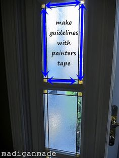 Make your own faux stained glass foyer window ~ Madigan Made