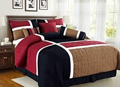 Searching for bedroom remodel ideas... Empire Home Over-Stock Special Patchwork 7 Piece comforter set Oversized – On Sale Till End of Month ONLY (King Size, Burgundy & Black)  http://aluxurybed.com/product/empire-home-over-stock-special-patchwork-7-piece-comforter-set-oversized-on-sale-till-end-of-month-only-king-size-burgundy-black/