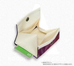 A WALLET(ウォレット) TIE-DYE(タイダイ) パープル // 便利なコンパクトカードサイズ財布の画像