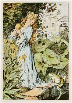 "Paul Friedrich Meyerheim-:-""The Frog Prince"""