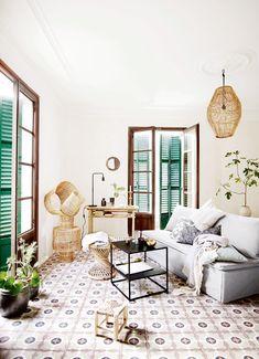 Baldosas hidráulicas / ¡Llévate la terraza dentro de casa! #hogarhabitissimo #modernista