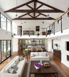 6 Wealthy Tips AND Tricks: Living Room Remodel Ideas Tutorials small living room remodel colour.Living Room Remodel On A Budget Crown Moldings livingroom remodel front porches.Living Room Remodel Ideas Before After. House Plan With Loft, Open Plan House, Loft House, Two Story House Plans, Farm House, Sweet Home, Living Room Remodel, Apartment Living, Apartment Furniture