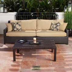 @Overstock - The Delano outdoor sofa and coffee table set is a beautiful addition to any backyard oasis and is a perfect match to all the components of the RST Outdoor Delano Collection. This sofa set features hand-woven wicker and Olefin and Sunbrella fibers.http://www.overstock.com/Home-Garden/Delano-Sofa-with-Coffee-Table-Set/5703785/product.html?CID=214117 $1,349.99