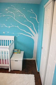 Google Image Result for http://www.babylifestyles.com/images/nursery/elizabeth-turqoise-pink-nursery/turqoise-nursery-with-white-hand-painted-blowing-tree.jpg