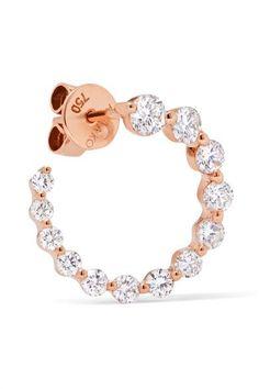 Anita Ko - Garland 18-karat Rose Gold Diamond Hoop Earrings