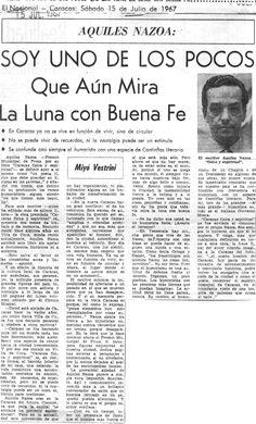 Aquiles Nazoa. Publicado el 15 de julio de 1957.