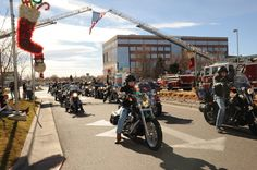 Thousands of motorcycles roared down Colfax yesterday with presents strapped to their bikes! As part of our 27th Annual Toy Run, bikers brought gifts and holiday cheer to patients and families in our hospital. Thanks to everyone who made the day so special.