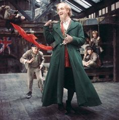 OLIVER! (1968) Ron Moody (Fagin) provided some welcome 'light comedy' to soften the darkness of the world that Bill Sikes, Nancy and Fagin live in.  Here is sings a song as he recruits Oliver to join his 'boys' - a band of pick pockets.