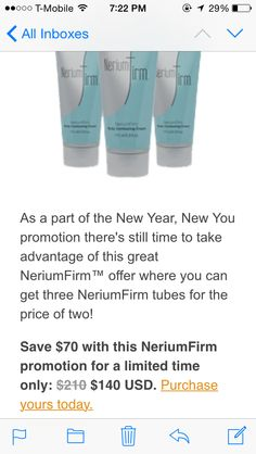 Limited time offer!!  www.leslienickels.nerium.com