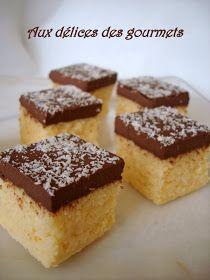 Aux délices des gourmets: PAVÉ COCO.....CHOCOLAT