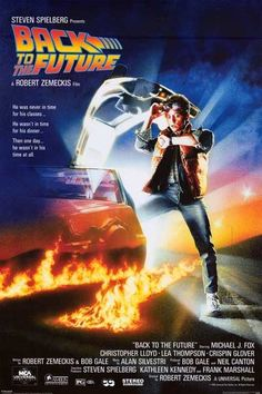 An awesome Back to the Future movie poster - Marty McFly is never Outta Time with his Delorean Time Machine! Fully licensed. Ships fast. 24x36 inches. Check out the rest of our awesome selection of Ba