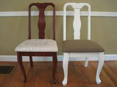 How To Reupholster A Dining Room Chair Magnificent Dining Room A Whole New Look In About 30 Minutes With Only $30 Design Inspiration