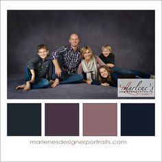 Grey, Taupe, Dusty Rose and Blue Colour Palette