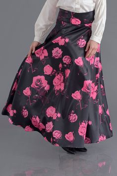 • FLORAL BLACK SKIRT • from Croyance London