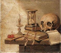 A vanitas still-life by Harmen van Steenwyck Memento Mori, Vanitas Paintings, Dossier Photo, Crane, Dutch Still Life, Dance Of Death, Danse Macabre, Art Poses, High Art