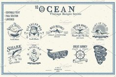 10 Ocean Vintage (editable text) by inumoccatype on @creativemarket