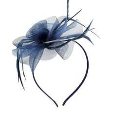 ad79ea4c6e1 Flower Feather Headband Royal Ascot. Sinamay HatsFascinator ...