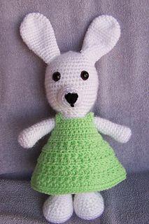 Use the same size hook you used to make Dress Me Bunny By Susan Ojala
