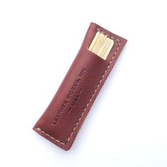Leather Works Minnesota- Leather Toothpick Holder – Heritage Dry Goods
