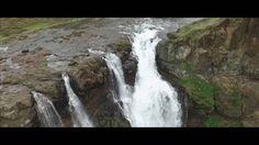 Drone Aerial Video : Iceland , Glymur waterfall  stunning  Aerial drone Footage