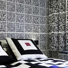 """In the most extreme example yet of QR codes used as decor, the new Hotel Modez in Arnhem has a room covered entirely in scannable codes that link to """"pornography, pin-ups and other piquancies""""."""