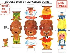 French Goldilocks & the 3 Bears printable